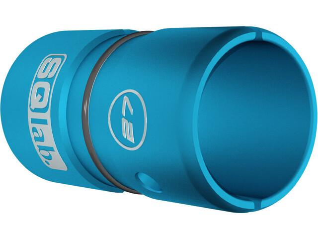 SQlab Lenkerhülse Alu 27,0 auf 31,8 mm eloxiert blau